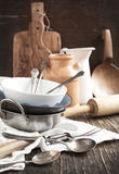 Kitchen cooking utensils Royalty Free Stock Images