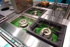 Kitchen cooktops Royalty Free Stock Image
