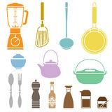 Kitchen Cookware Set Royalty Free Stock Photography