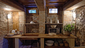 Kitchen in Copsa Mare, Transylvania, Romania Stock Photo