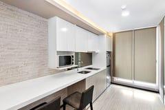 Kitchen in condominium. Kitchen corner in condominium at Bangkok royalty free stock image