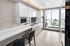 Kitchen in condominium. Kitchen corner in condominium at Bangkok royalty free stock images
