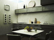 The kitchen. Kitchen corner with grapes Stock Images