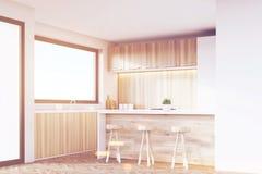 Kitchen corner, light wood, toned Royalty Free Stock Photo