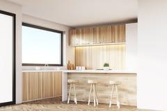 Kitchen corner, light wood Royalty Free Stock Photography