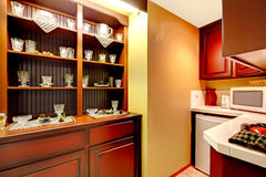 Kitchen corner with old cabinet view Royalty Free Stock Images