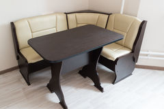 Kitchen corner sofa and table in interior Royalty Free Stock Photos