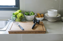 Kitchen corner with utensil Royalty Free Stock Photography