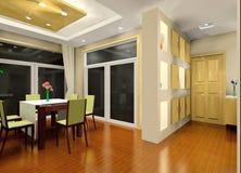 Kitchen and corridor Stock Photos