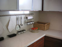 Kitchen counter. Kitchen with counter royalty free stock images