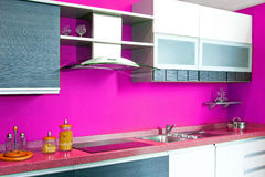 Kitchen counter pink Stock Images