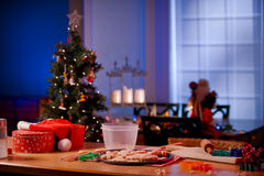 Kitchen counter in preparation for Christmas Stock Photography
