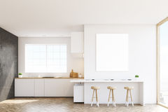 Kitchen countertop and poster Royalty Free Stock Photography