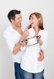 Kitchen couple Royalty Free Stock Photos
