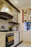 Kitchen. Cozy kitchen for the family. the perfect place for any hostess stock photo