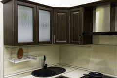 Kitchen cupboards in the kitchen stock photos