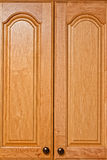 Kitchen cupboards. Two wooden doors for kitchen cupboard Stock Photos