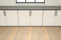 Kitchen And Cupboards royalty free stock photo