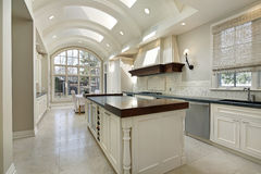 Kitchen with curved ceiling Stock Image