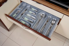 Kitchen cutlery and knife Royalty Free Stock Photo