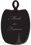 Kitchen cutting board Made in France. Symbolic kitchen cutting board with text Made in France Stock Images