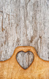 Kitchen cutting board on the old wood background Stock Photo