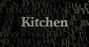Kitchen - 3D rendered metallic typeset headline illustration Royalty Free Stock Images