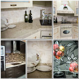 Kitchen decor collage Stock Image