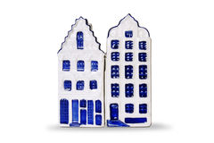 Kitchen decor - Salt and Pepper Holland Houses - isolated object Royalty Free Stock Photos