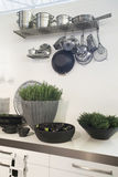 Kitchen Decoration By Vases Stock Photo