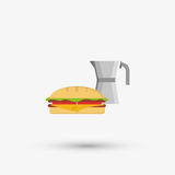 Kitchen design. food icon. White background, vector illustration Royalty Free Stock Photography
