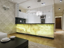 Kitchen design. Kitchen interior design and furniture Royalty Free Stock Image