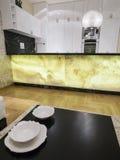 Kitchen design. Kitchen interior design and furniture Stock Image