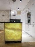 Kitchen design. Kitchen interior design and furniture Royalty Free Stock Photos