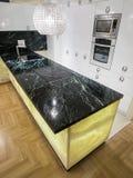 Kitchen design. Kitchen interior design and furniture Stock Photography