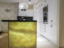 Kitchen design. Kitchen interior design and furniture Royalty Free Stock Photography