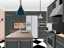 Kitchen design Royalty Free Stock Photos