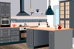 Kitchen design Royalty Free Stock Photo