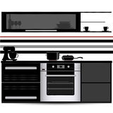Kitchen design Royalty Free Stock Photography