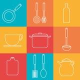 Kitchen design, vector illustration. Stock Image