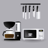 Kitchen design, vector illustration. Stock Photos