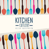 Kitchen design, vector illustration. Stock Photography