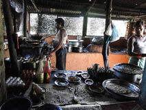 Kitchen of a dhaba Stock Photo