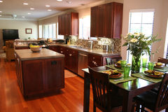 Kitchen and Dinette Stock Photography