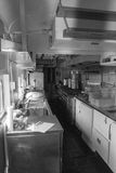 Kitchen in a Dining Car, Clifton Forge, VA Stock Photo