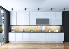 Kitchen dining modern style Stock Photo