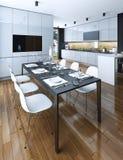 Kitchen dining modern style Stock Image