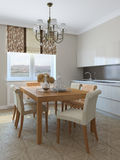 Kitchen and dining-room. Royalty Free Stock Images