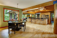 Kitchen and dining room interior. Royalty Free Stock Image