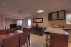 Kitchen and dining room in Luxury Home Stock Photos